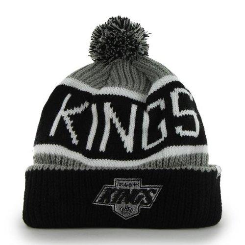 db6d803d5f4  47 Brand Calgary Cuff Beanie Hat with POM POM - NHL Hockey Cuffed Winter  Knit.