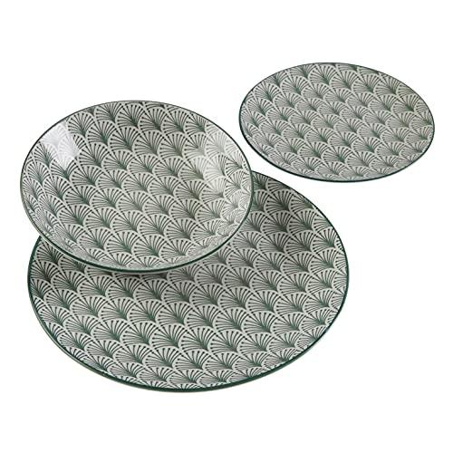 Versa, vajilla 18 piezas palm, linea servicio de mesa, vajillas, VS-22120009