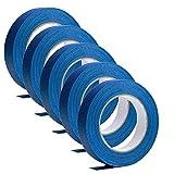 Cinta de enmascarar azul de 5 piezas, fácil de remover buen adhesivo y cinta de pintura sin...