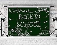 HDの背景学校に戻る黒板チョーク写真の背景テーマパーティー写真スタジオ小道具バナー装飾7x5ftLYFS661