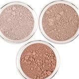 Honeypie Minerals Sombra de ojos mineral – Colección neutral (3 x 1 g) de hongos, latte y marrón chocolate – vegano, sin crueldad y belleza natural