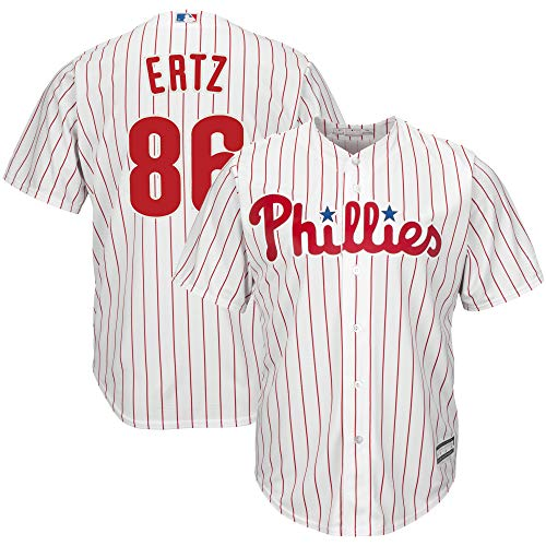 MLB X NFL Official Crossover Youth 8-20 Cool Base White Home Player Replica Jersey (Medium 10/12, Zach Ertz Philadelphia Phillies)
