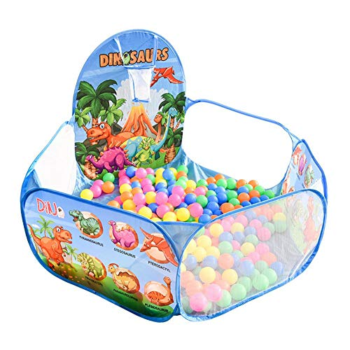 Dynamicoz Pozzetto per Palline in Schiuma per Bambini Piscina per Palline Rotonde Morbide per Bambini Piscina per Bambini All'aperto Coperta per Bambini Box per Bambini Rotondi Deluxe