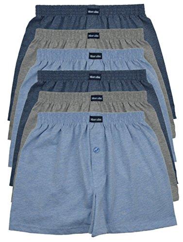MioRalini TOPANGEBOT Boxershorts farbig weich & locker in neutralen Farben klassischen Unifarben Herren Boxershort, 6 Stück Set 2, L-6