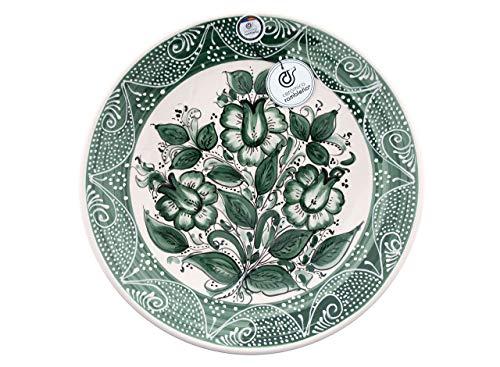CERÁMICA RAMBLEÑA | Plato Decorativo para Colgar en Pared | Plato de cerámica | Plato de Pared | Plato Pared Modelo D30 | 100 % Decorado a Mano | 35x35x5 cm