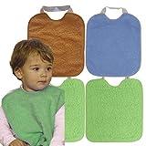 Ti TIN - Pack 4 Baberos Impermeables para Bebé Niña 90% Algodón | Lote de 4...