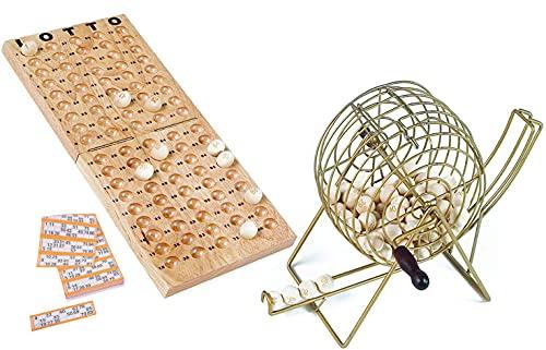 Engelhart - Jeu de loto en bois avec sphère métal 18 cm de d