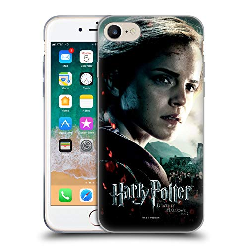 Ufficiale Harry Potter Hermione Granger Deathly Hallows VIII Cover in Morbido Gel Compatibile con Apple iPhone 7 / iPhone 8 / iPhone SE 2020