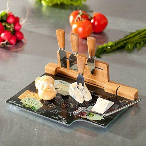 *Dekoria Käsebrett aus Glas World of Cheese 31,5x20cm Geschenk*