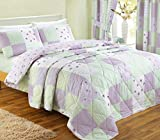 J Rosenthal und Son Ltd Dreams 'n' Drapes Patchwork-Tagesdecke, für King Size Betten, Flieder