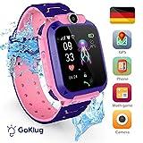 Smartwatch Kinder GPS Tracker Kinderuhr Mädchen Digital Smart Watch Kinder GPS Uhr Kinder Telefonieren Smartwatch Kinder Telefon Rosa Wasserdicht Pink Deutsch Kinder Handyuhr mit Ortung GPS SIM Karte