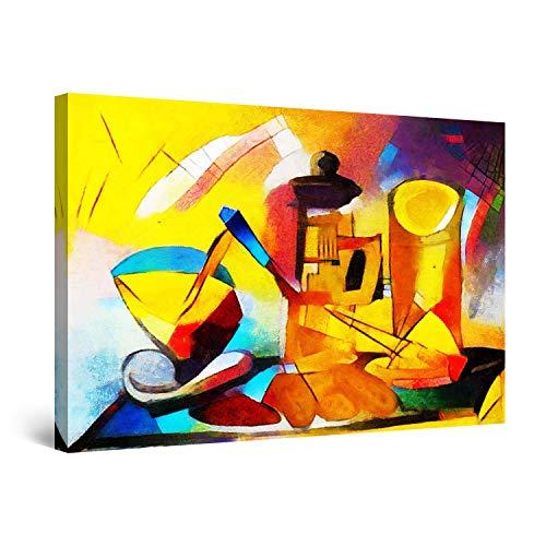 Startonight Quadro su Tela Cubismo del Tavolo da Cucina - Quadri Moderni Astratti - Stampe Camere da Letto 60 x 90 cm