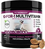 10 in 1 Dog Multivitamin with Glucosamine - Essential Dog Vitamins...