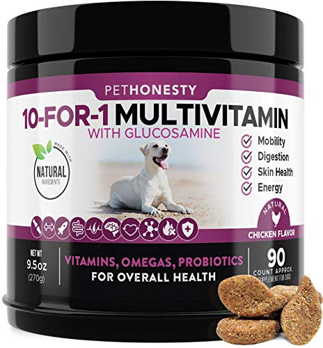 10 in 1 Dog Multivitamin with Glucosamine - Essential Dog Vitamins with...