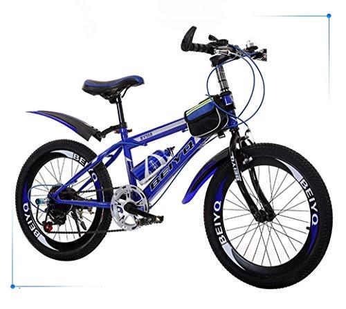 GUOCAO Children's Folding Bike 20Inch Variable Speed Mountain Bike, Comfortable Saddle, Nonslip Pedal, Safe and Sensitive Brake, Student Portable Bicycle Folding Bike