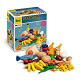 Erzi 28217 Sortierung Kochspaß aus Holz, Kaufladenartikel für Kinder, Rollenspiele