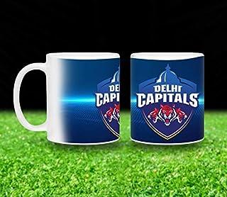 Vista 11oz IPL Team Printed Coffee Mugs- Delhi Capitals Logo printed White Mug