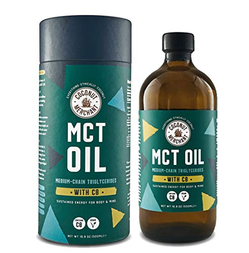 Coconut Merchant MCT Oil with 96% C8, 17.9Oz (500mL)