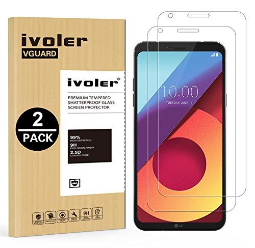 iVoler [2 Pack] Pellicola Vetro Temperato per LG Q6 / LG Q6 Plus/LG Q6+, Pellicola Protettiva, Protezione per Schermo