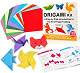 Yibeishu Origami Paper Kit with Instructions Book 20 Easy Origami Projects 6x6 Inch Origami Paper Double Sided Square Colorful Folding Paper Setfor Kids Adults Beginners Activity