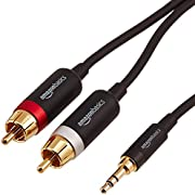 AmazonBasics 3.5mm to 2-Male RCA Adapter Audio Stereo Cable - 25 Feet