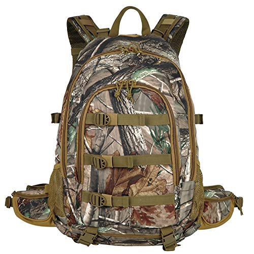 AUMTISC Hunting-Backpack Large Military Expandable-Travel Backpack Tactical Waterproof-Hiking Bow Rifle and Pistol Compatible camouflage