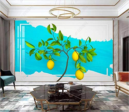 Papel Pintado 3D Limonero minimalista moderno. Fotomurales Pared Dormitorio Papel Pintado Fotográfico Mural Decoración