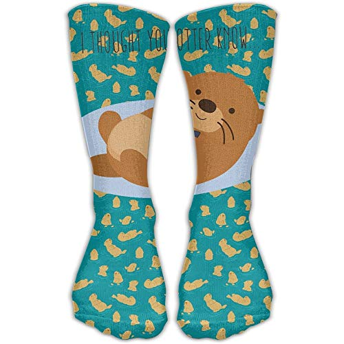 Nifdhkw I Thought You Otter Know 3D Printing Long Socks
