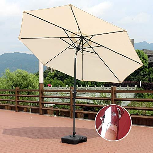 9.8Ft Outdoor Market Patio Table Umbrellas Sunbrella Tilt Adjust With 38mm Iron Tube Crank For Garden, Deck, Backyard