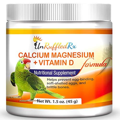 UnRuffledRx Bird Calcium Supplement with Magnesium +D3 - Calcium Supplement for Birds