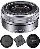 Sony E PZ 16-50mm OSS: (SELP1650) Sony E PZ 16-50mm f/3.5-5.6 OSS Lens (Silver) + AOM Pro Starter Bundle Kit Combo - International Version (1 Year AOM Warranty)