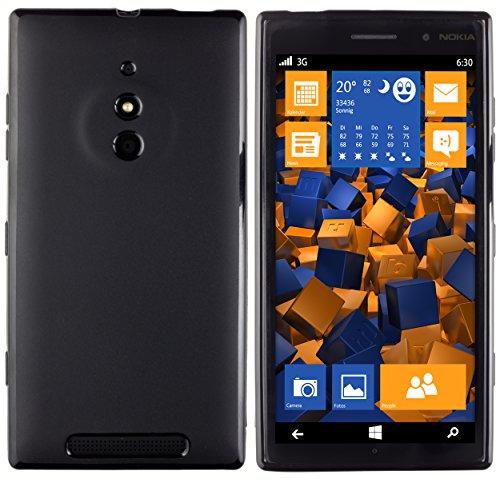 mumbi Hülle kompatibel mit Nokia Lumia 830 Handy Hülle Handyhülle, schwarz