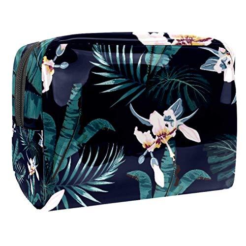 Bolsa de maquillaje portátil con cremallera bolsa de aseo de viaje para las mujeres práctico almacenamiento cosmético bolsa de remiendo animal