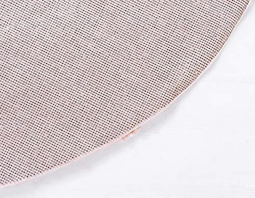 Unique Loom Davos Shag Contemporary Soft Cozy Area Rug, 6' Round, Dusty Rose