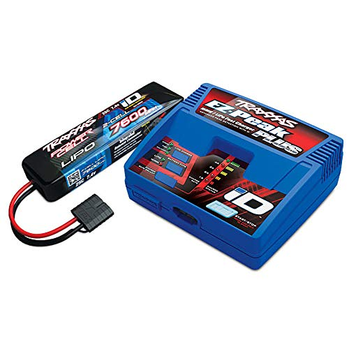 Traxxas 2995 RC Car and Truck 7600mAh 7.4 Volt 2 Cell Performance LiPo Battery and EZ Peak Charger Completer Pack