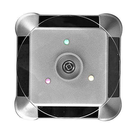 TMISHION Espositore Rotante per Gioielli, Alimentatore Solare e Alimentato a Batteria, Base Girevole per Display portautensili Girevole (Argento)