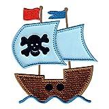 PatchMommy Barco Pirata Parche Termoadhesivo Parche Bordado - Apliques para Niños
