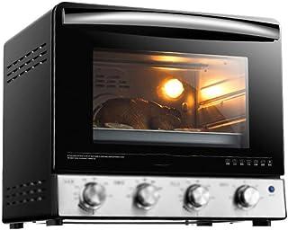 FUDIV Horno eléctrico Hornear en casa Horno de Pastel automático Multifuncional Capacidad de 25 litros Control de Temperatura unificado de 2000 vatios para Tubos Superior e Inferior Negro