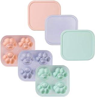 Rolin Roly 猫爪型 製氷器 製菓道具 た付き 氷格 DIYモールド ゼリー チョコレート アイスキューブ 5色 (3pcs)