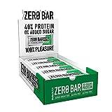 BioTechUSA Zero Bar Barrita de proteínas con alto contenido proteico, sin azúcar añadido o aspartamo, libre de lactosa y gluten, con edulcorantes, 20 * 50 g, Chocolate-Avellana