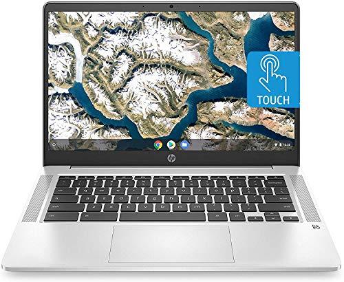 HP Chromebook 14-inch HD Touchscreen Laptop, Intel Celeron N4000, 4 GB RAM, 32 GB eMMC, Chrome (14a-na0080nr, Forest Teal) (Renewed)
