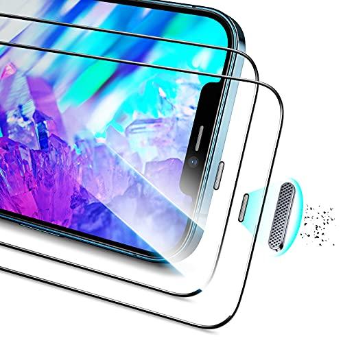 ESR Pellicola Armorite Compatibile con iPhone 12 e 12 PRO, in Vetro Temperato Ultra Resistente con Protezione per l'Altoparlante, 2 Pezzi