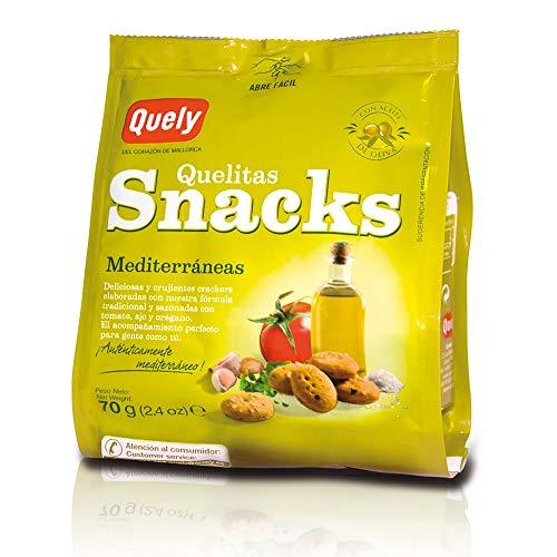 Quely Quelitas Snacks Mediterráneas 70 g Pack de 10