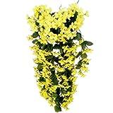 - Vorcool - Plantas trepadoras artificiales con flores, perfectas para colgar y...