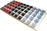 5 Zonen Teller Lattenrost / Tellerfeder Lattenrahmen 120 x 200 oder 140 x 200 cm Kopf- und Fußteil unverstellbar Tellerlattenrost Tellerlattenrahmen günstig