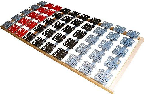 Supply24 since 2004 5 Zonen Teller Lattenrost/Tellerfeder Lattenrahmen 160 x 200 cm Kopf- und Fußteil unverstellbar Tellerlattenrost Tellerlattenrahmen günstig