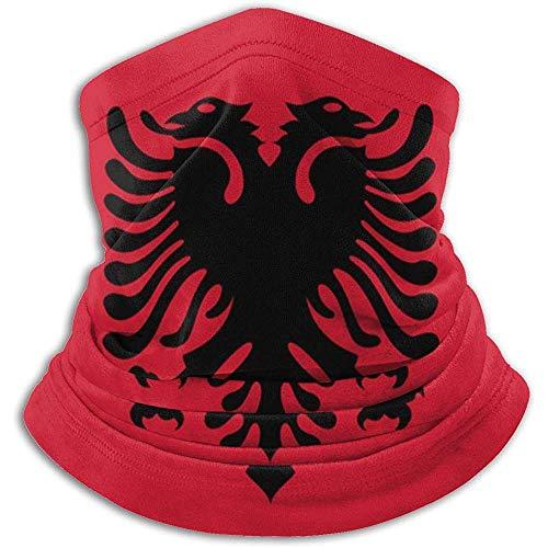 Merle House Nackenwärmer Gamasche Albanien Flagge Weiche Mikrofaser Kopfbedeckung Gesicht Schal Maske Für Winter Kaltes Wetter Warmhalten