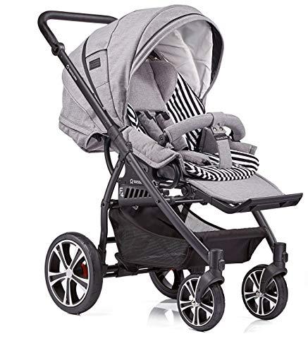 Gesslein 104100031868868 F4 Air Kunstledergriff schwarz inklusive C3 Babywanne, mehrfarbig