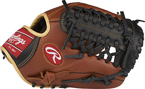 "Rawlings Sandlot Series Leather Modified Trap-Eze Web Baseball Glove, 11-3/4"", Right Hand Throw"
