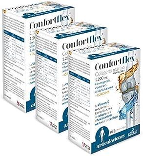 Confortflex® 1200 mg. 90 comprimidos con colágeno. cúrcuma. magnesio. ácido hialurónico y vitamina C. (Pack 3 unid.)